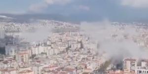 İzmir semalarında deprem sonrası korkutan görüntü