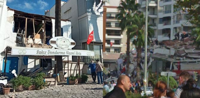 İzmir'de 6,6 büyüklüğünde deprem oldu! Binalar yıkıldı
