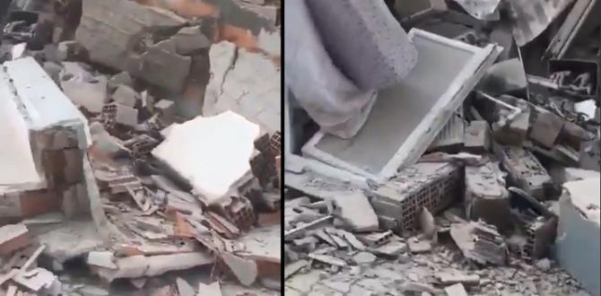 İzmir'de deprem sonrası çöken bina enkazından çığlık sesleri geldi