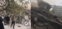 İzmir'de depremde bina çöktü! Enkaz başında yürek yakan feryatlar